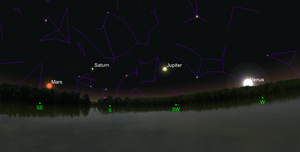 Evening planets at AstroCamp 2018