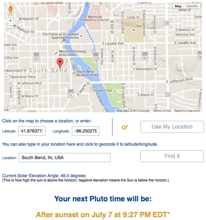 Pluto Time map; image courtesy of NASA