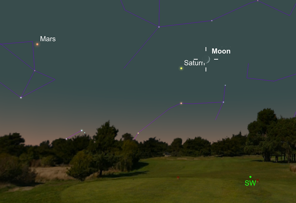 Moon near Saturn, 5 October 2016
