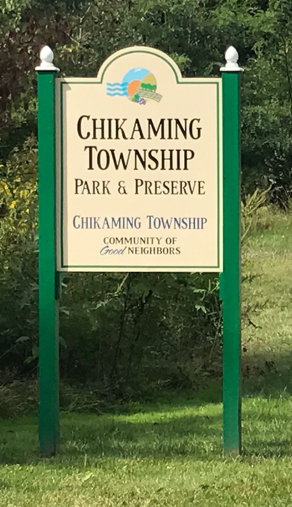 Sign: Chikaming Township Park & Preserve