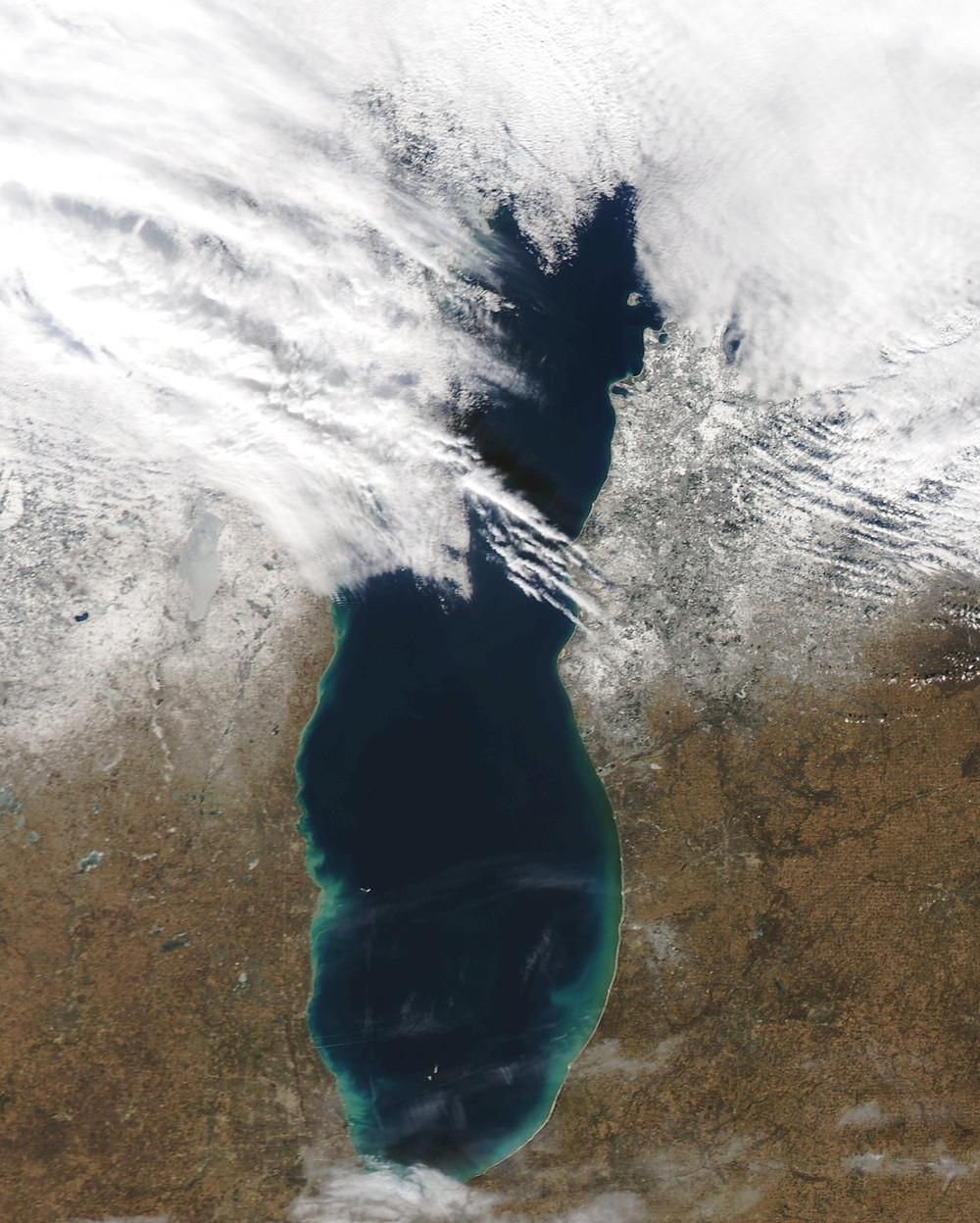 MODIS-Lake Michigan-2016 February 20