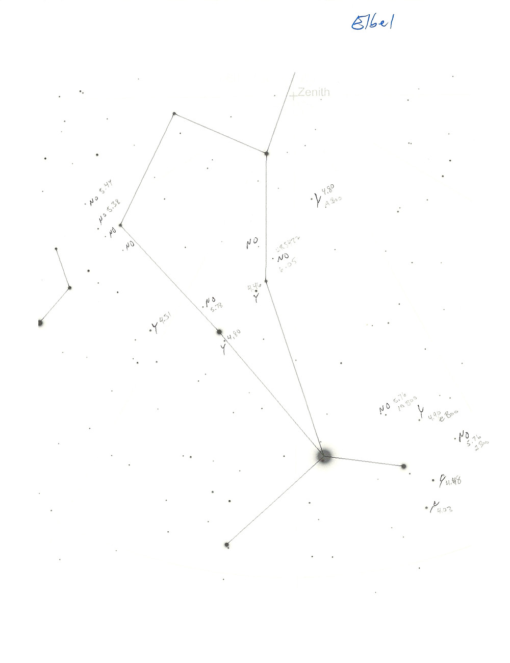 Star chart of Bootes