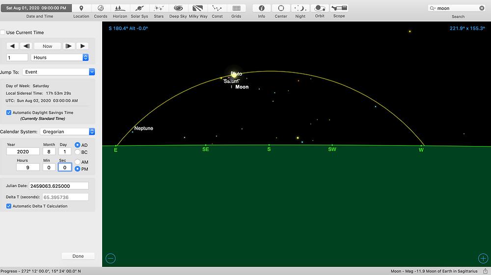 Moon-Jupiter-Saturn-Aug 1, 2020, 9pm