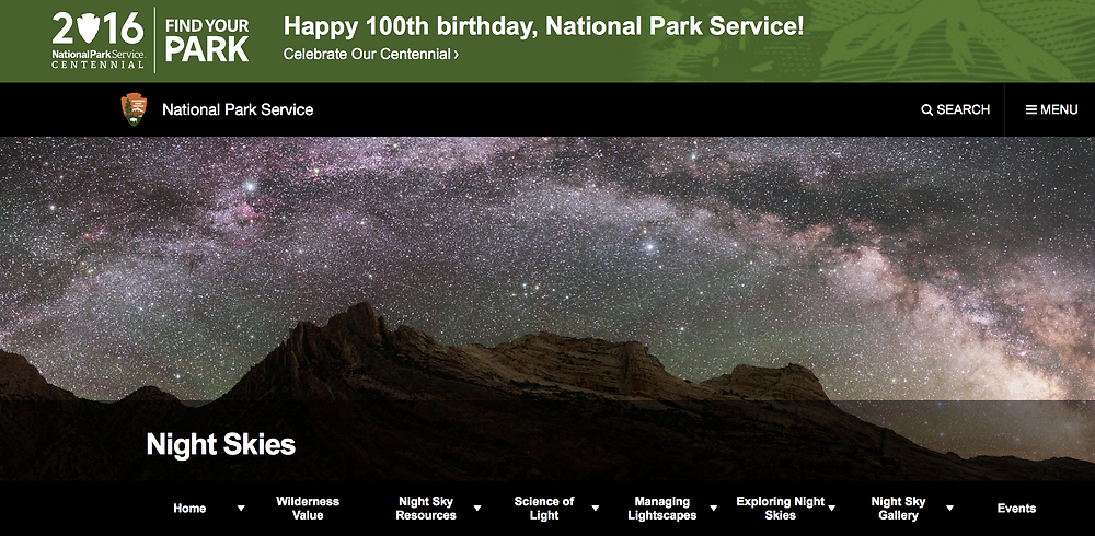 National Park Service-Night Skies; https://www.nps.gov/subjects/nightskies/index.htm