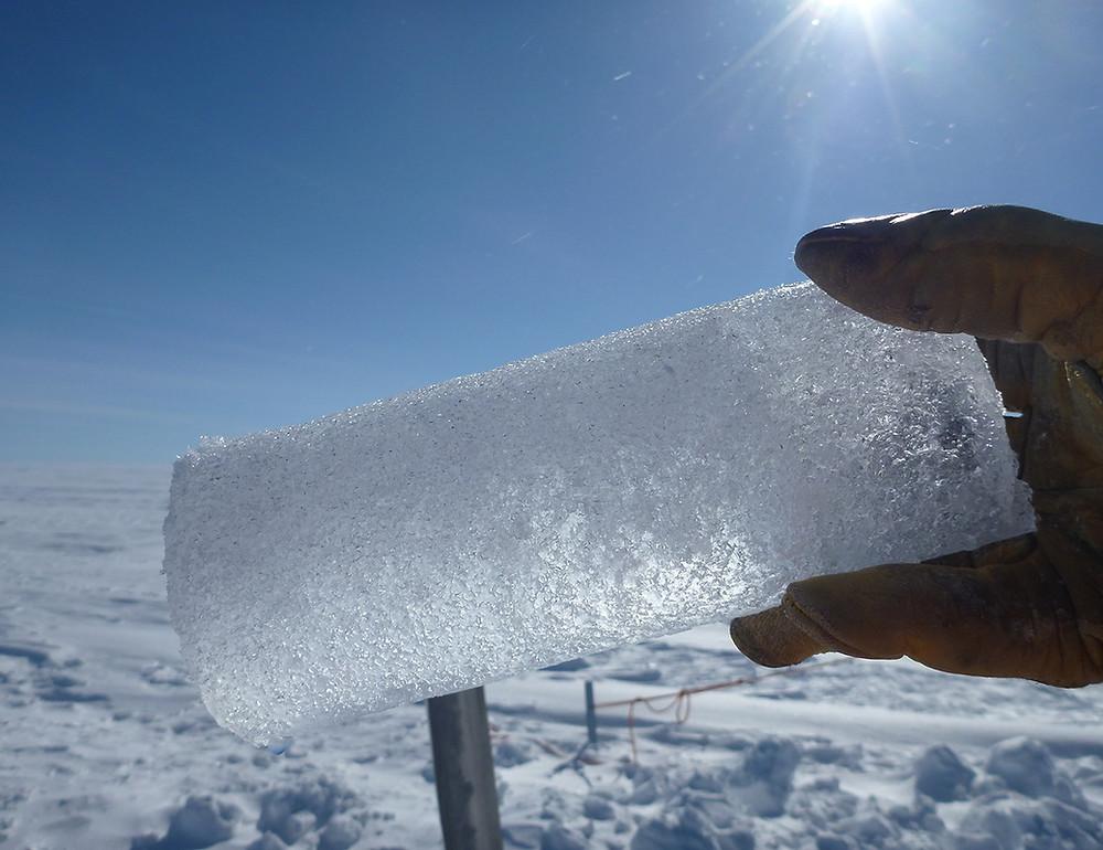 Ice core; credit: NASA's Goddard Space Flight Center/Ludovic Brucker
