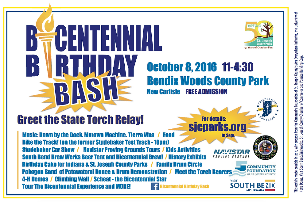 Bicentennial Birthday Bash at Bendix Woods, October 8, 2016