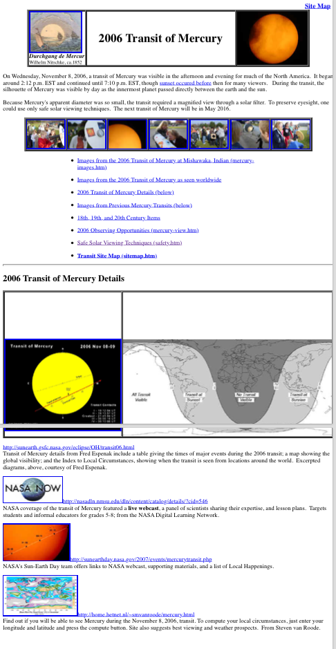 2006 Transit of Mercury Transit