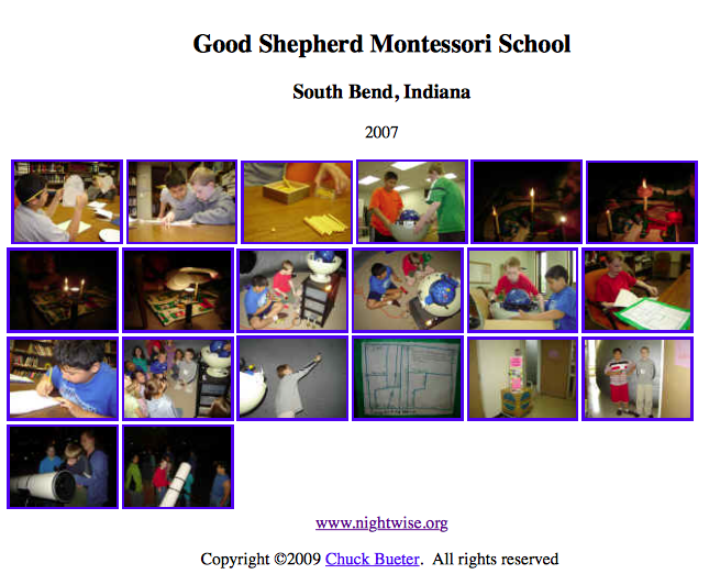 Good Shepherd Montessori Project
