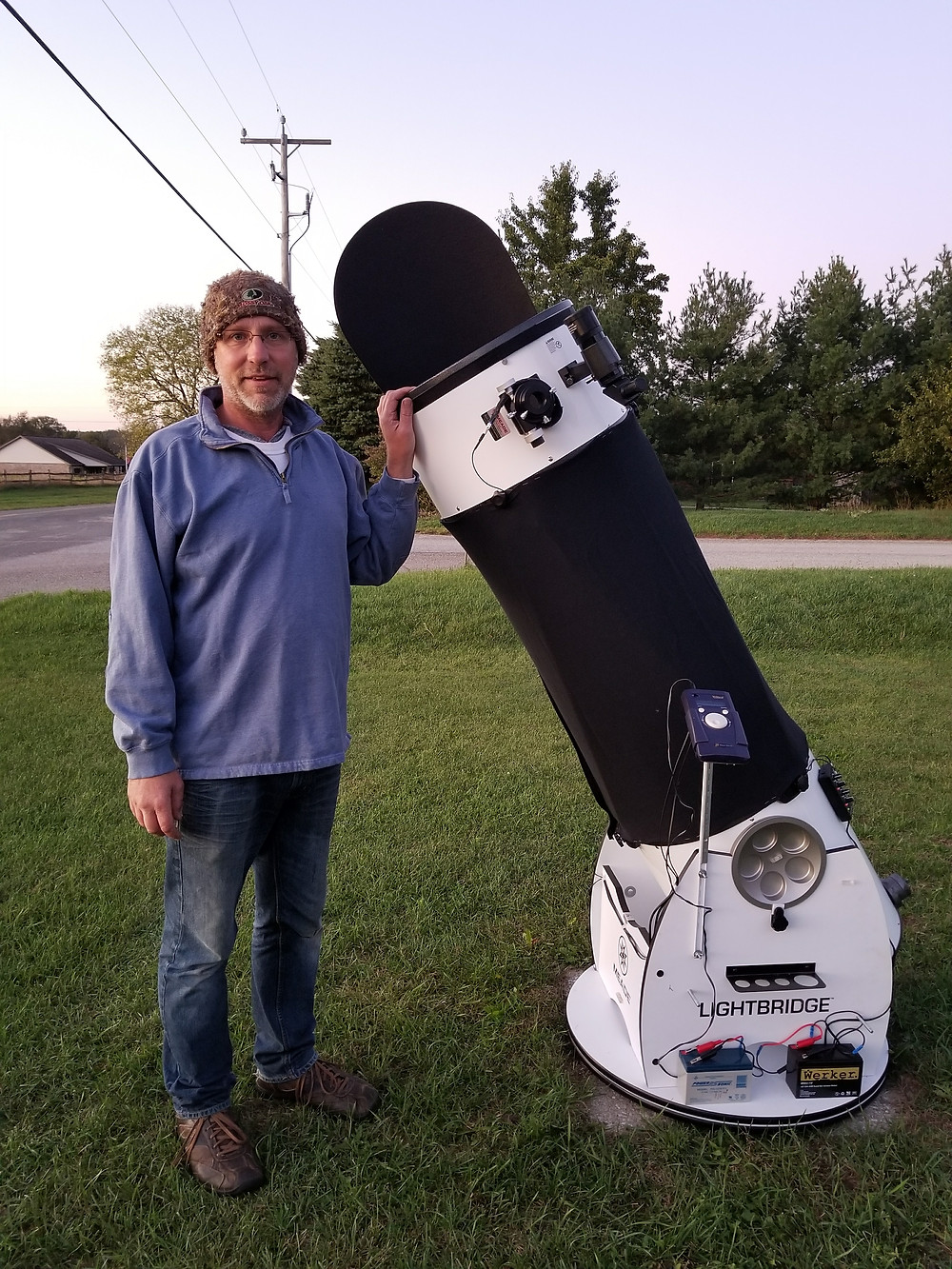 Matt Bielski and telescope; imaged provided.