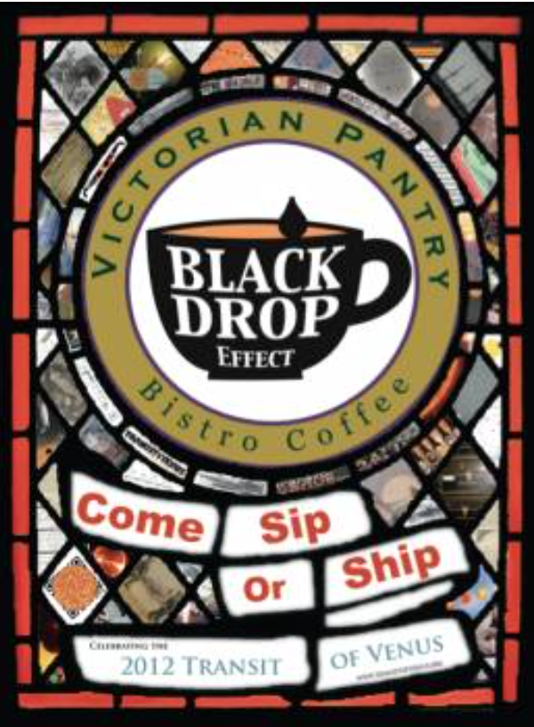 Label for Black Drop Effect Bistro Coffee