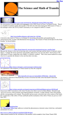 Science and Math of Transits