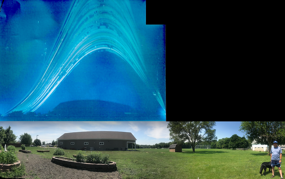 Solargraph (above) with panorama photo of same scene.
