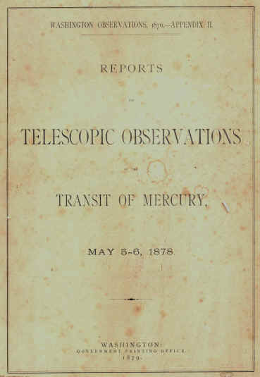 Telescopic Observations, 1878