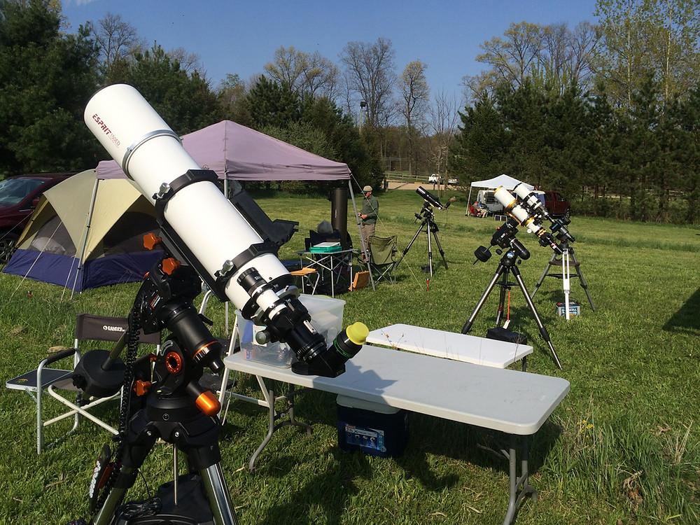 Telescopes at Dr. TK Lawless International Dark Sky Park