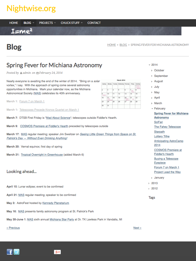 Nightwise.org : Spring Fever for Michiana Astronomy.png