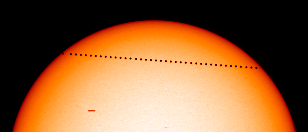 Transit of Mercury; by SOHO.