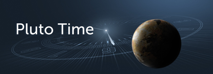 Pluto Time banner by NASA