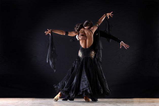 Latino Dancers in Ballroom
