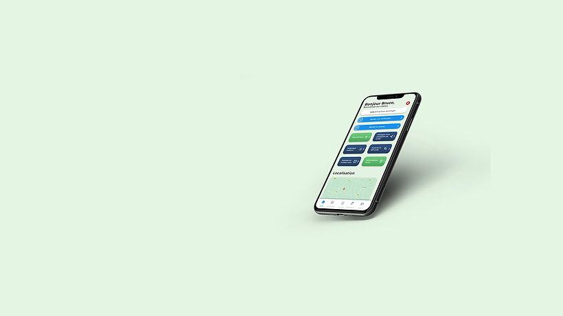 Mise en situation de l'application Laeka sur un smartphone.