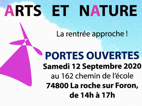 ARTS ET NATURE : Portes ouvertes samedi 12 septembre 2020 14h à 17h