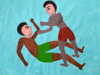 Dandori Ahmad, le dessin de l'exil