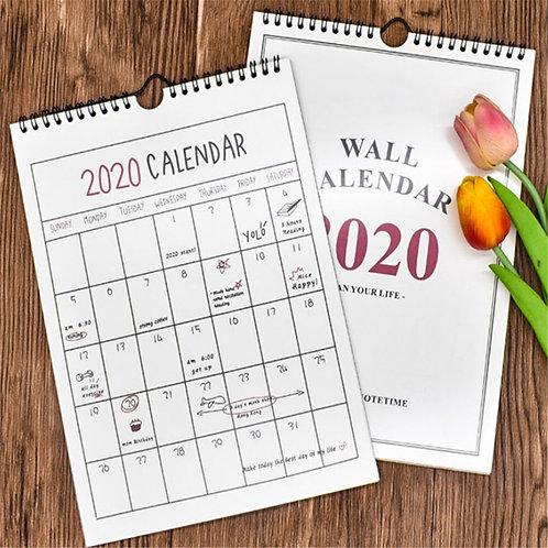 2020 Calendar Wall Hanging Monthly Planner Agenda Organizer Schedule Calendar