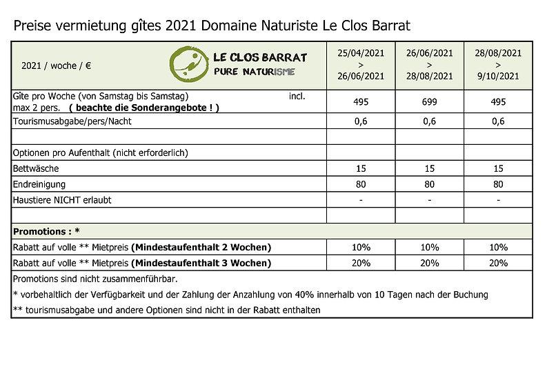 2021 DE Le Clos Barrat - preise vermietu
