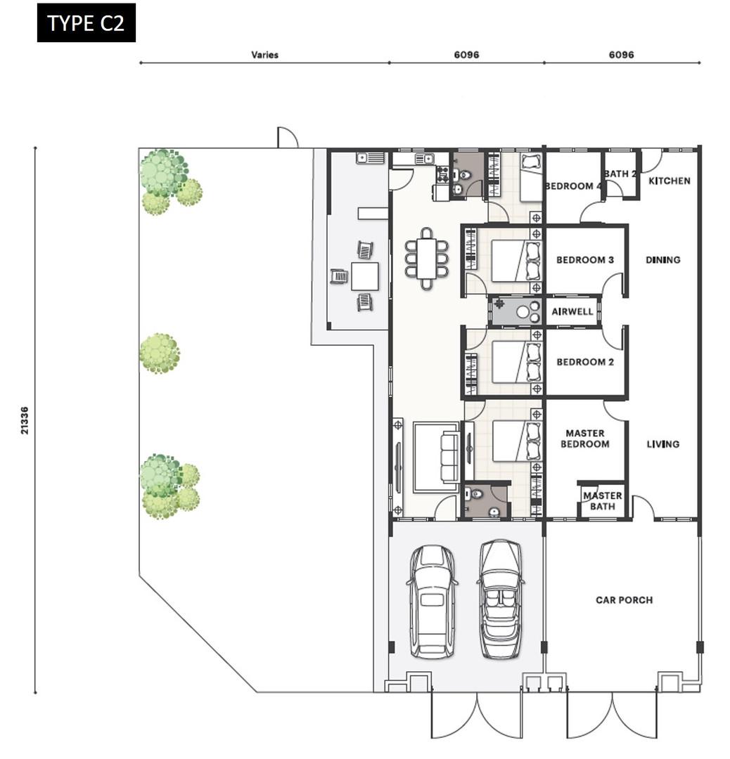 Nada Seruni Floor Plan Type C2