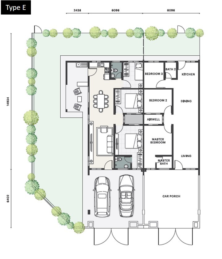 Bukit Mahogani Floor Plan (Type E)