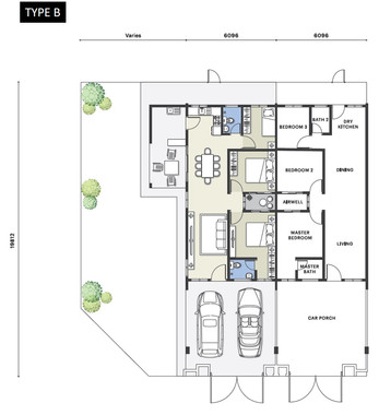 Nada Seruni Floor Plan Type B