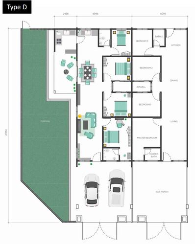 Bukit Mahogani Floor Plan (Type D)