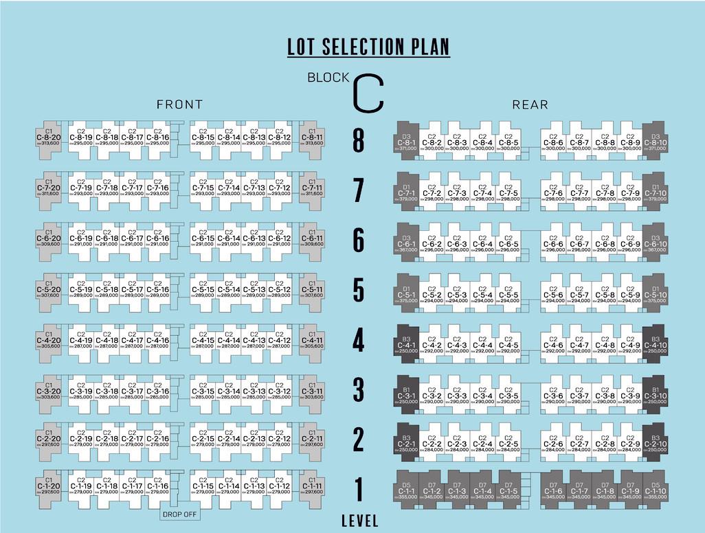 Lot selection plan tunas residensi blok