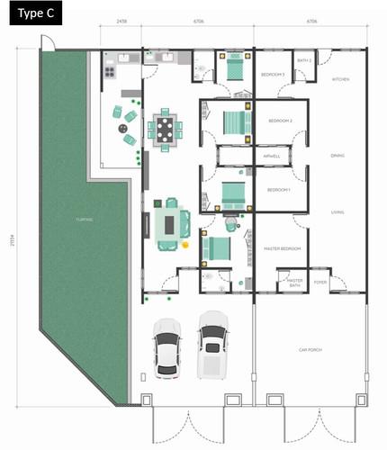 Bukit Mahogani Floor Plan (Type C)