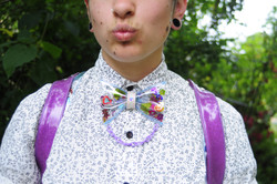 Clear Sequin Bow Tie