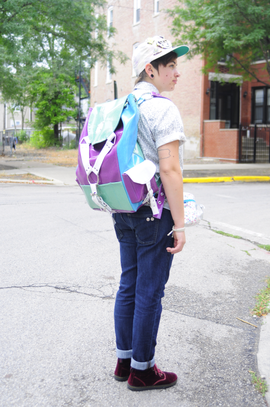 Glitter Vinyl Harness Backpack