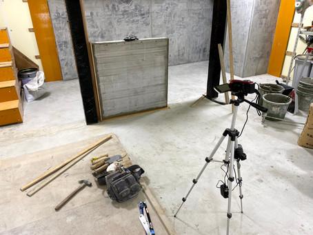 ブロック壁 モルタル塗り仕上げ練習(モデリング)