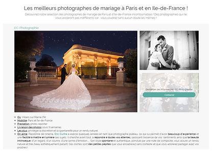 meilleurs photographes mariage Paris