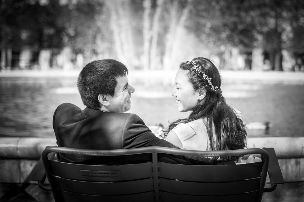 Séance engagement Jardin des tuileries