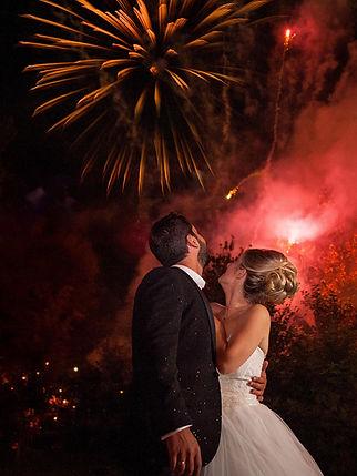 feux d'artifice mariage