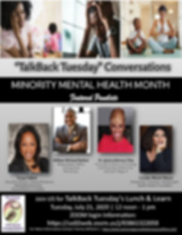 Minority Mental Health Webinar
