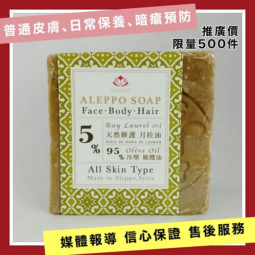 阿勒頗古皂 5%月桂油 ALEPPO SOAP  5% BAY LAUREL OIL