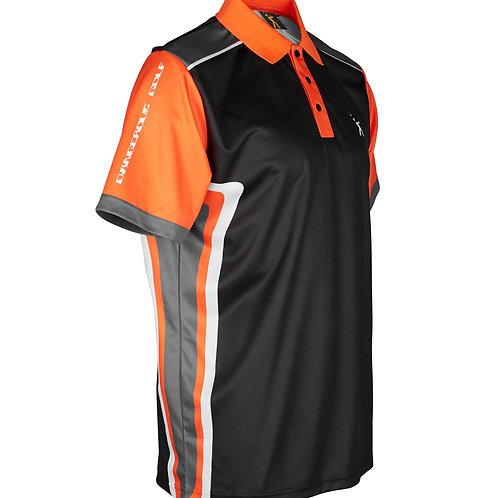 T3 Polo Shirt - Black/Orange