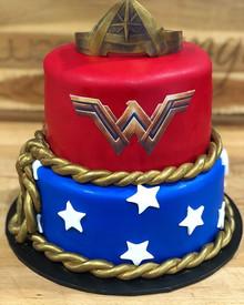 Wonder Woman cake for a Wonder Woman!! H