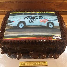 Car Racing Print Cake by Sweet Revenge