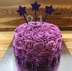 Purple Ombre Red Velvet Cake
