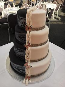 Split Wedding Cake by Sweet Revenge