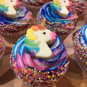 Rainbow Unicorn Cupcakes - Handpainted