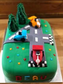 Race Cars Cake by Sweet Revenge