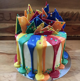 Rainbow Inside and Out Cake