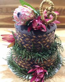 Weaving, Proteas and Ferns Cake by Sweet